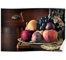 ~ still life with summer fruit ~ Poster