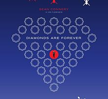 Diamonds Are Forever - Movie Poster by 547Design