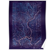 USGS Topo Map Washington State WA Okanogan 242912 1905 125000 Inverted Poster