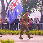 Anzac Day Melbourne by Leigh Kerr