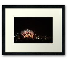 NYE 2012 Sydney Harbour Framed Print