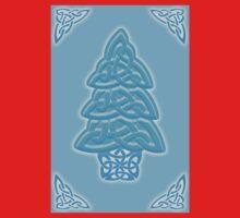 Celtic Christmas Tree (ice-blue) One Piece - Long Sleeve