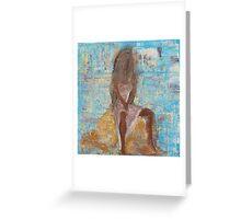Woman on Rock Greeting Card