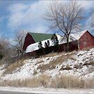 """""""Hillside Farm In Winter"""" by kkphoto1"""