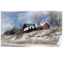 """Hillside Farm In Winter"" Poster"