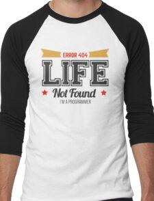 programmer - error 404 - life not found Men's Baseball ¾ T-Shirt