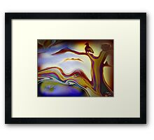 *free to love another day* Framed Print