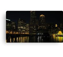 Boston - night skyline Canvas Print