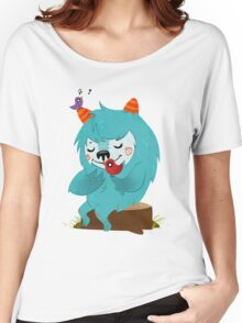 FLUFF AND THE BIRDS Women's Relaxed Fit T-Shirt