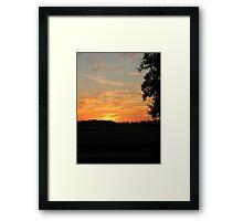 Sunset at the Florida Horse Park  Framed Print