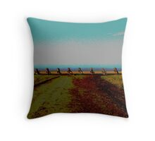 Cadillac's in the field Throw Pillow