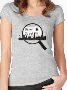 Baker Street Magnifier  Women's Fitted Scoop T-Shirt