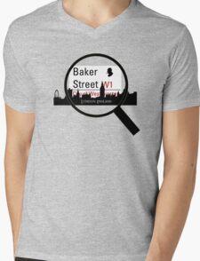 Baker Street Magnifier  Mens V-Neck T-Shirt
