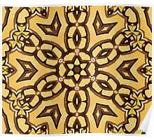 kaleidoscopic picture of something like an Arabic pattern Poster