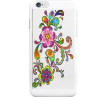 Floral Colored Pencil Design - iCase iPhone Case/Skin