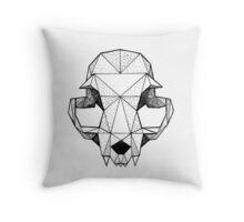 Geometric Cat skull Throw Pillow