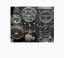 Instrument Panel of a 1950's Jet Fighter Unisex T-Shirt