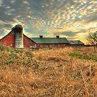 Golden Rays on a Fading Farm by Dale Lockwood