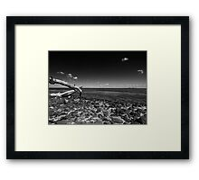 Clifton Spring Pier in Black and White Framed Print