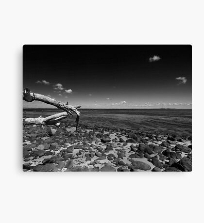 Clifton Spring Pier in Black and White Canvas Print