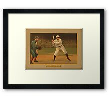 Benjamin K Edwards Collection Chief Myers at bat baseball card portrait Framed Print