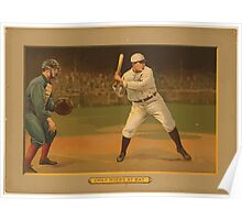 Benjamin K Edwards Collection Chief Myers at bat baseball card portrait Poster