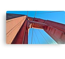 Here's Looking Up The Golden Gate Bridge Tower Canvas Print
