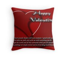 valentine's card Throw Pillow