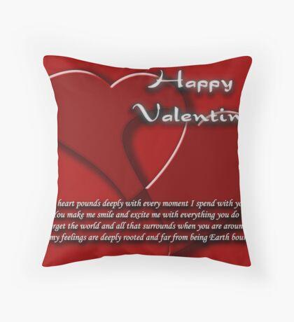 valentine's card Throw Pillow