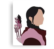 Katniss in Purple Canvas Print