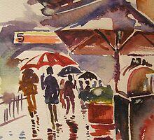 Rainy Mood- Circular Quay, Sydney, Australia by Paulina Kazarinov
