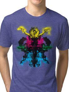 Senor Chang paintball montage Tri-blend T-Shirt
