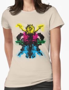 Senor Chang paintball montage Womens Fitted T-Shirt