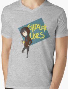 Sherlock Lives  Mens V-Neck T-Shirt