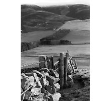 Stone Wall at Cademuir near Peebles Photographic Print