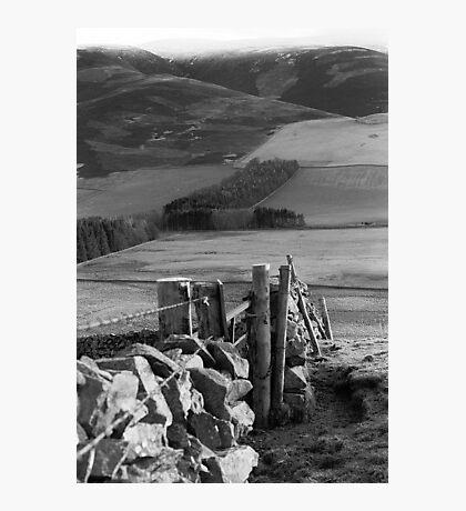 Stone Wall at Cademuir near Peebles Photographic Print