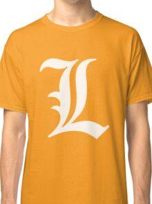 L Deathnote Logo Anime Cosplay Japan T Shirt Classic T-Shirt