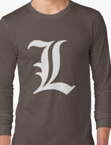 L Deathnote Logo Anime Cosplay Japan T Shirt Long Sleeve T-Shirt