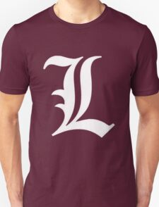 L Deathnote Logo Anime Cosplay Japan T Shirt T-Shirt