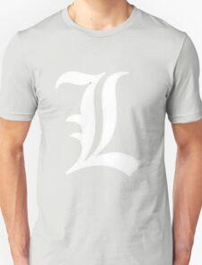 L Deathnote Logo Anime Cosplay Japan T Shirt Unisex T-Shirt