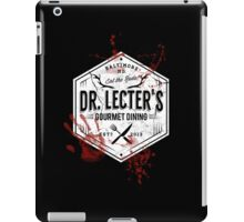 Dr Lecter's Gourmet Dining - White Version iPad Case/Skin