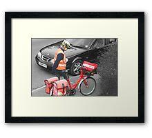 Postie Framed Print