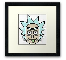rick face Framed Print