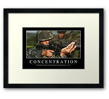 Concentration: Inspirational Quote and Motivational Poster Framed Print