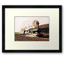 Steam Train in Landscape Framed Print