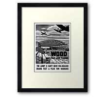 Wood Shelters Our Planes -- WWII Framed Print