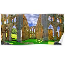 Rievaulx Abbey - Panorama - HDR  Poster