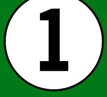 1, First, Number One, ONE, Number 1, Racing, Numero Uno, British Racing Green, Win, Winner by TOM HILL - Designer