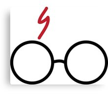 Harry Potter Glasses & Scar Canvas Print