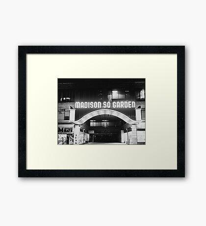 Vintage Madison Square Garden Framed Print